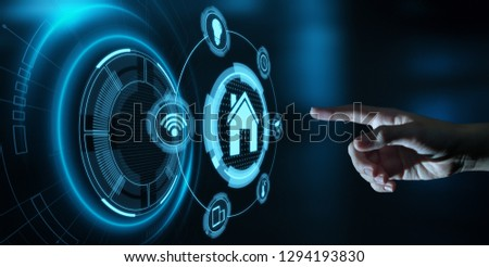 Smart home Automation Control System. Innovation technology internet Network Concept. #1294193830
