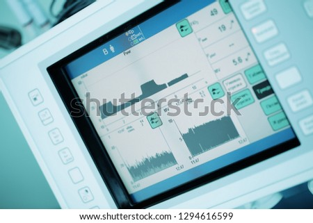Digital equipment monitor with graphs. #1294616599