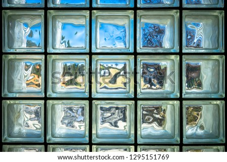 Glass Block Window - full frame #1295151769