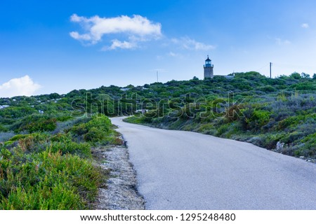 Greece, Zakynthos, Road to skinari lighthouse at zakynthos island north cape #1295248480