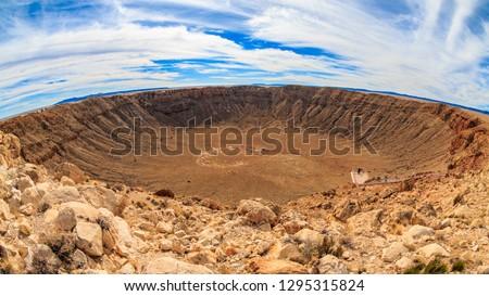 Meteor Crater Natural Landmark in Arizona Royalty-Free Stock Photo #1295315824