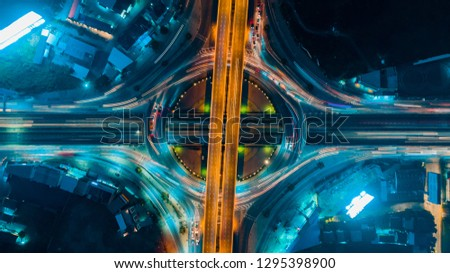 Circle Road traffic an important transport in Bangkok Thailand #1295398900
