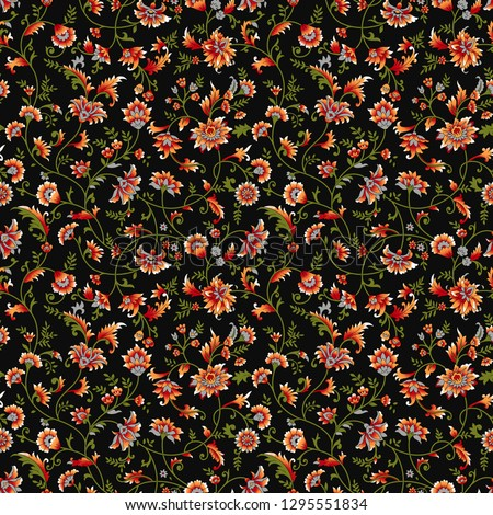 small floral flower pattern with black color #1295551834