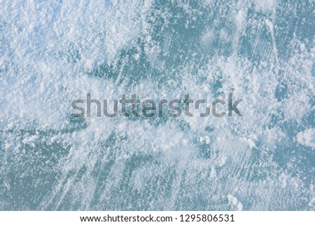 The texture of the ice. The frozen water.Winter background  #1295806531