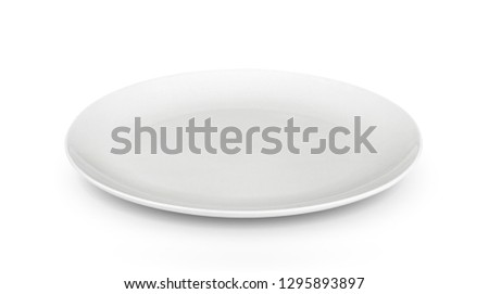 white plate on white background #1295893897