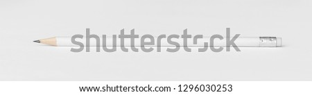 pencil isolated on white background Royalty-Free Stock Photo #1296030253
