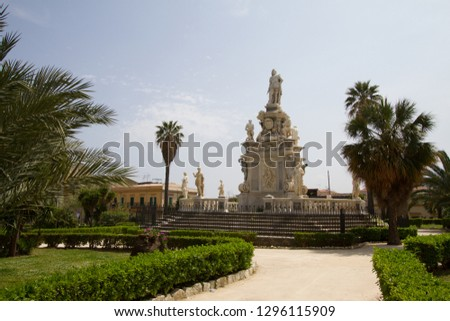 Parliament square near Palace of the Normans in Palermo, Italy #1296115909