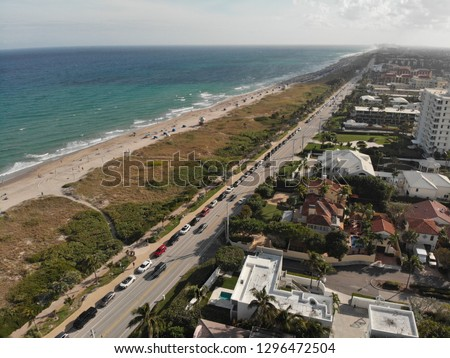 Delray Beach Florida, Coastline Background, Ocean Views, A1A Florida #1296472504