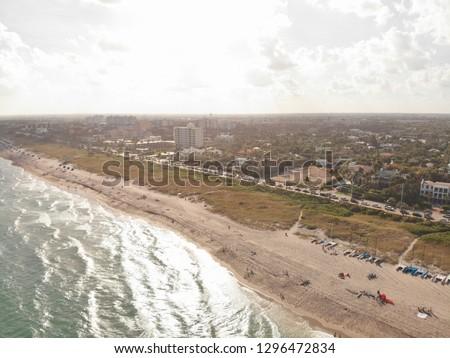 Delray Beach Florida, Coastline Background, Ocean Views, A1A Florida #1296472834