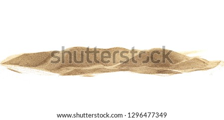 Pile desert sand dune isolated on white background #1296477349