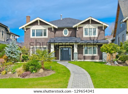 Big custom made luxury house in the suburbs of Vancouver, Canada. #129654341
