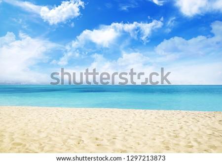 Summer Beach Sand #1297213873