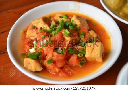 Ajoarriero tomato with tofu soup, Vietnam food #1297251079