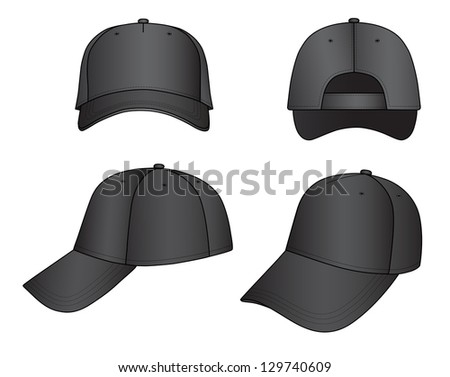 Outline cap illustration isolated on white #129740609
