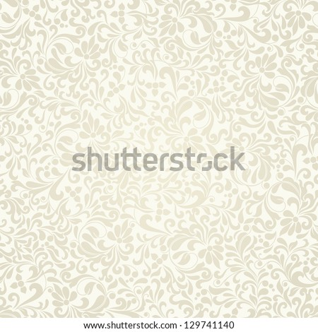 Seamless background of light beige color in the style of Damascus