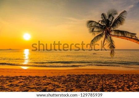 Nice sunset #129785939