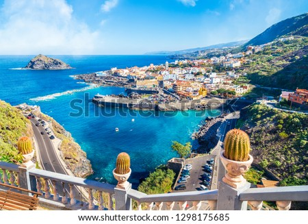 Landscape with Garachico town of Tenerife, Canary Islands, Spain #1298175685