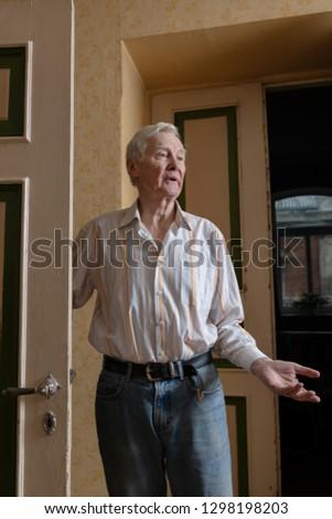 Portrait of senior man. #1298198203