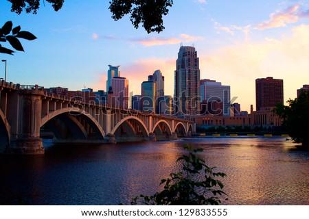 Downtown Minneapolis at Dusk