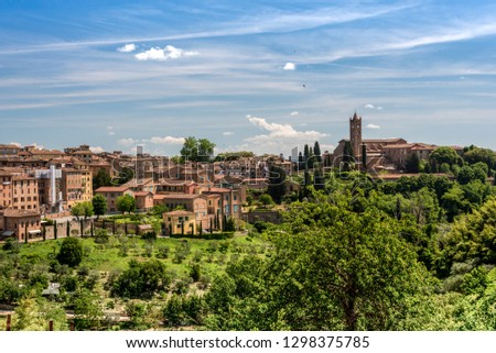 View of Siena with the Basilica of San Clemente #1298375785