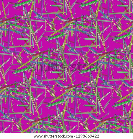 Pencils background - stationery seamless pattern. #1298669422
