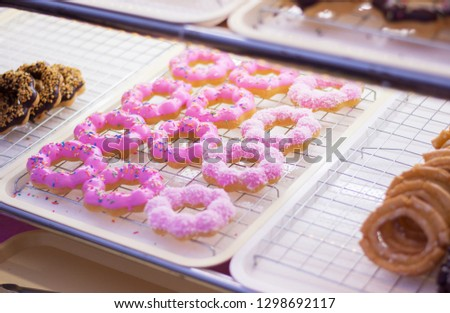 Colorful delicious donuts. #1298692117