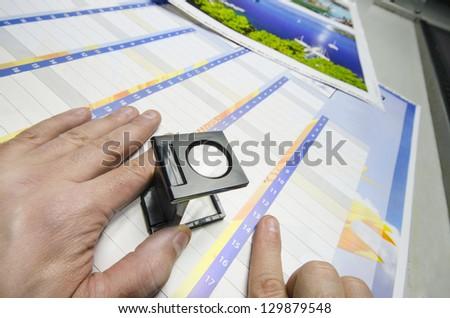 Press color management - print production loupe controll