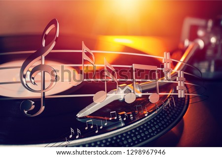 Music notes isolated on  background #1298967946
