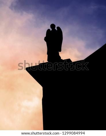 Angel Sculpture Church  #1299084994