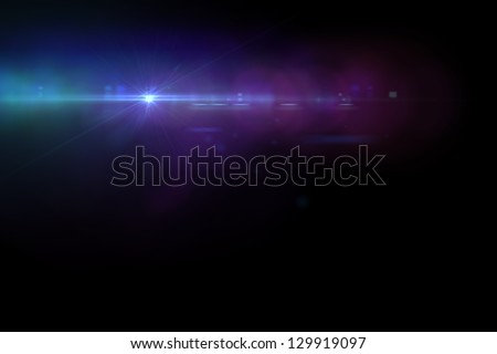 Lens flare effect in  space made with AE cs5 Royalty-Free Stock Photo #129919097