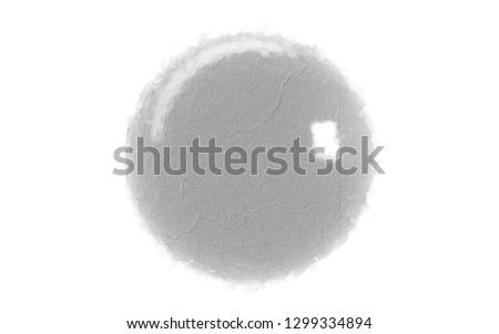 single reflected 3d rendering of a sphere inside a studio object #1299334894