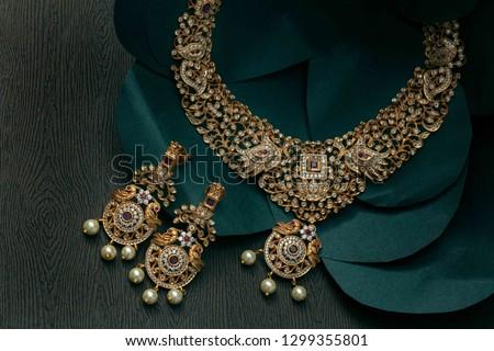 beautiful Indian  jewellery in low light  #1299355801