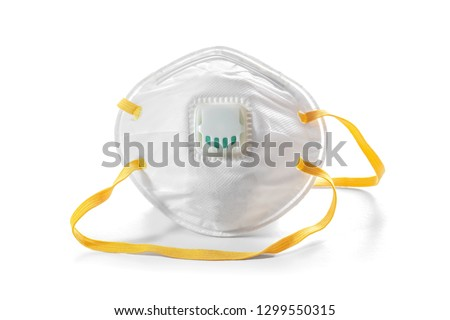 air pollution mask on white background #1299550315