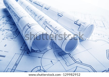The part of architectural project Royalty-Free Stock Photo #129982952