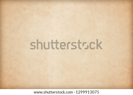 Old Paper texture. vintage paper background or texture; brown paper texture #1299913075