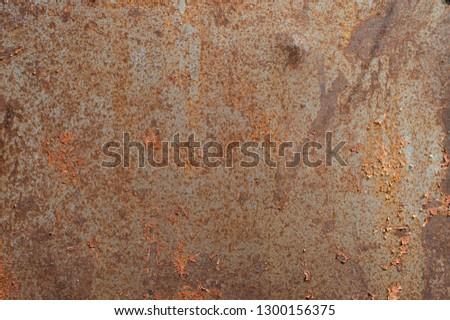 Rustic steel plate background #1300156375