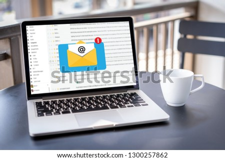 Mail Communication Connection message to mailing contacts phone Global Letters Concept #1300257862