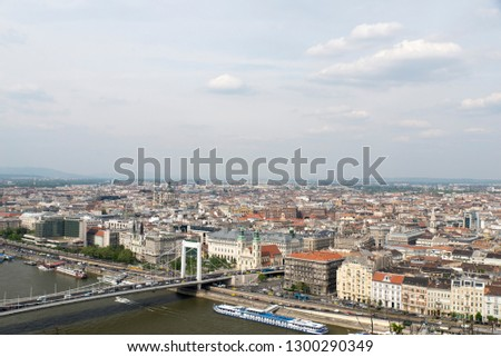 View of Budapest, Hungary from Gellert Hill #1300290349