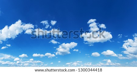 Sun rays in the cloudy sky. Nature background. #1300344418