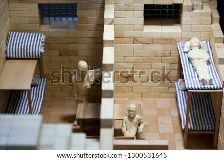 Vilnius/Lithuania October 2, 2014 Model of the prison #1300531645