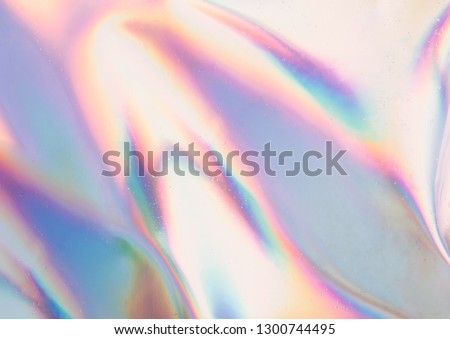 Iridescent background. Holographic Abstract soft pastel colors backdrop. Holographic Foil Backdrop. Trendy creative gradient. #1300744495