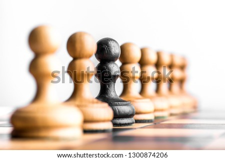 Chess pieces on chess board #1300874206