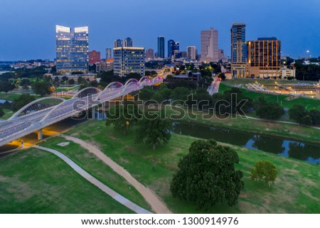 Aerial View Fort Worth, Tx #1300914976