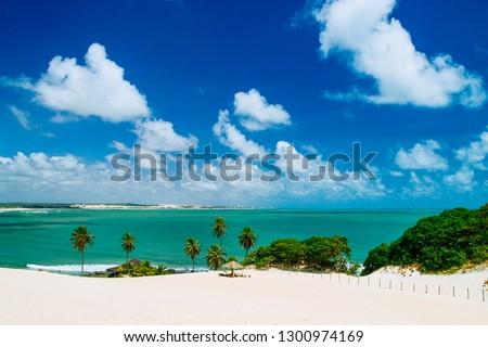 Unspoiled beautiful dunes of genipabu, Natal. brazil Royalty-Free Stock Photo #1300974169