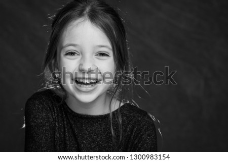 9 years old girl portrait #1300983154