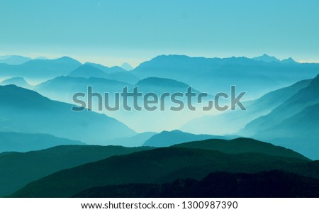 Mountains and nature landscape travel #1300987390