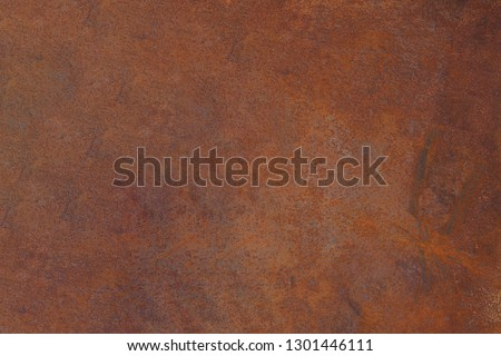 Grunge rusted metal texture, rust and oxidized metal background. Old metal iron panel.  #1301446111