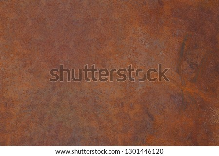 Grunge rusted metal texture, rust and oxidized metal background. Old metal iron panel.  #1301446120