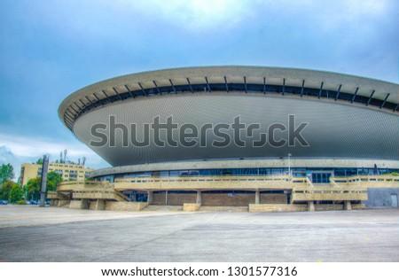 KATOWICE, POLAND, AUGUST 14, 2017: Spodek arena in Katowice, Poland  #1301577316
