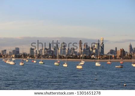 Melbourne skyline from st kinda #1301651278
